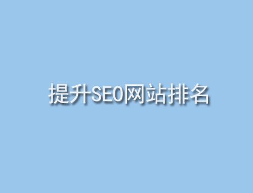 提升SEO网站排名技巧有哪些?